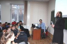 Творческая  встреча  старшеклассников  с руководителем  кружка тележурналистики «Лампада»  Хрупиным М.Н.